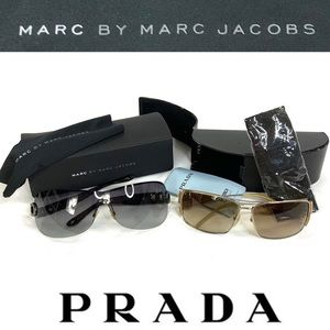 6pc BUNDLE! PRADA & MARC JACOBS sunglasses w cases